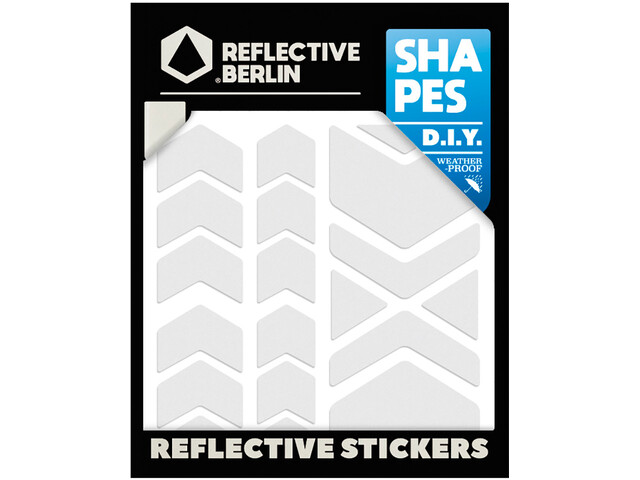 REFLECTIVE BERLIN Shapes Reflective Sticker chevrons/white